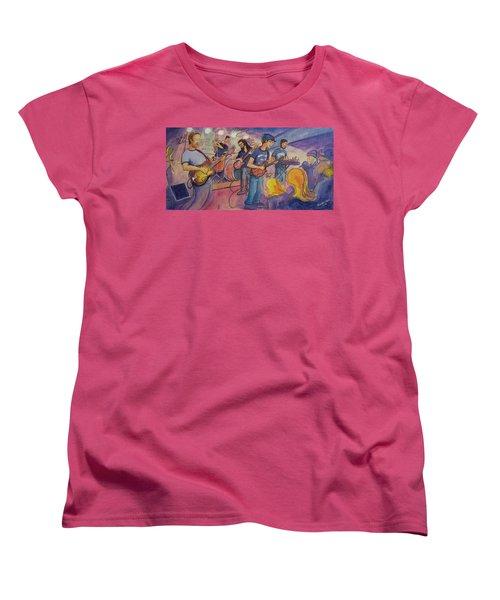 Fruition At The Barkley Ballroom Women's T-Shirt (Standard Cut) by David Sockrider