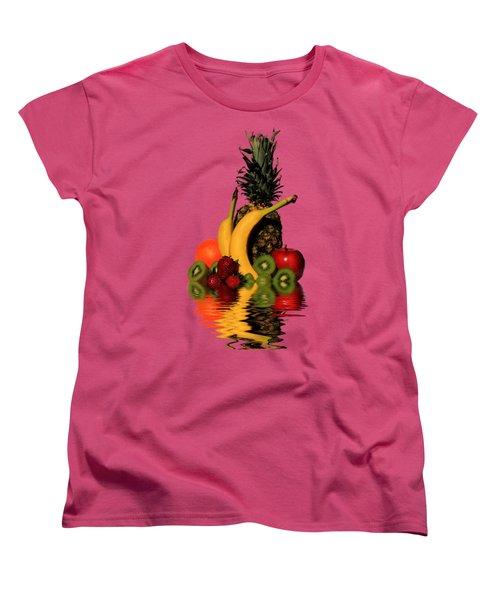 Women's T-Shirt (Standard Cut) featuring the photograph Fruity Reflections - Medium by Shane Bechler