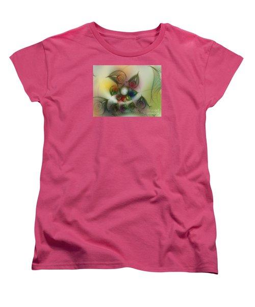 Women's T-Shirt (Standard Cut) featuring the digital art Fun With Gardening by Karin Kuhlmann