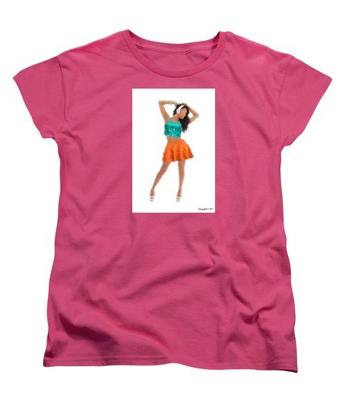 Women's T-Shirt (Standard Cut) featuring the digital art Gaby by Nancy Levan