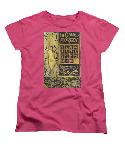 Women's T-Shirt (Standard Cut) featuring the mixed media Game Of Fifteen by Desiree Paquette