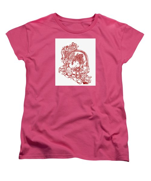 Ganesha Line Drawing Women's T-Shirt (Standard Cut)