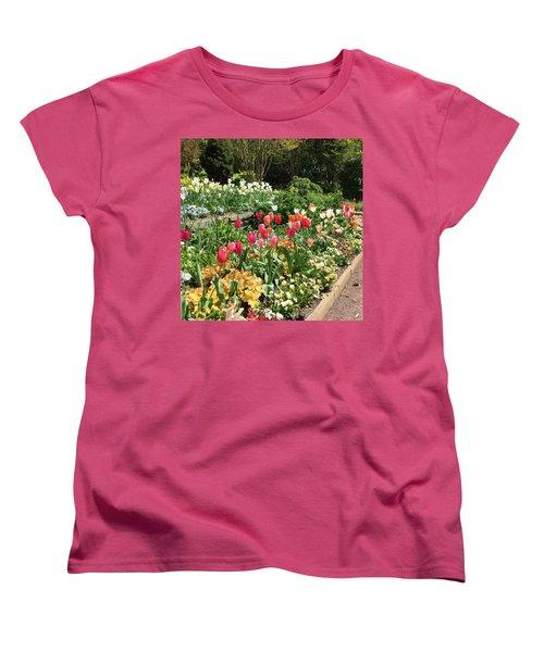 Garden Flowers Women's T-Shirt (Standard Cut) by Kay Gilley