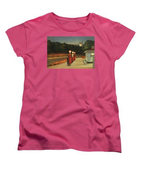 Gas  Women's T-Shirt (Standard Cut) by Edward Hopper