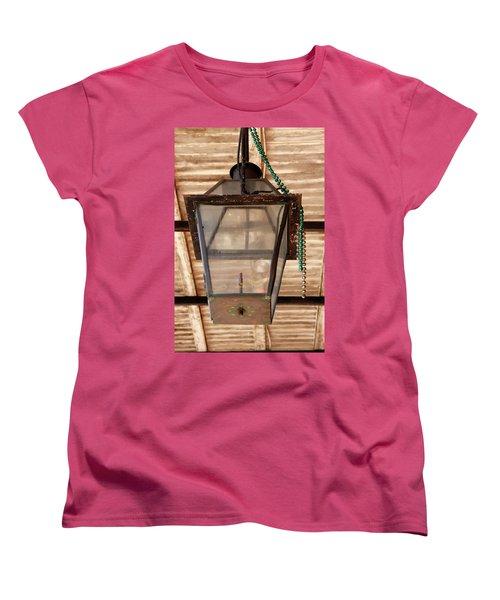 Women's T-Shirt (Standard Cut) featuring the photograph Gas Lamp French Quarter by KG Thienemann