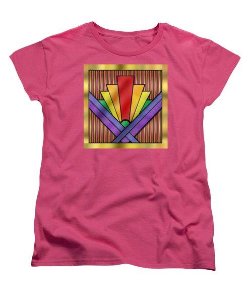 Rainbow Art Deco Women's T-Shirt (Standard Cut) by Chuck Staley