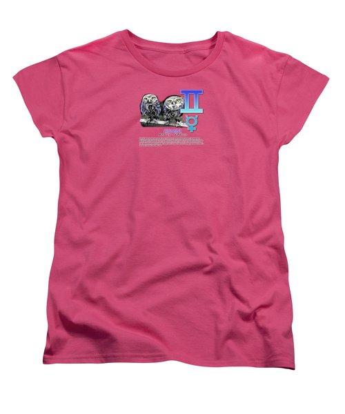 Gemini Sun Sign Women's T-Shirt (Standard Cut) by Shelley Overton