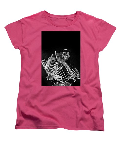 Women's T-Shirt (Standard Cut) featuring the mixed media Gene Krupa by Charles Shoup