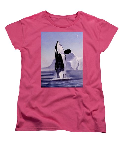 Women's T-Shirt (Standard Cut) featuring the painting Gentle Giant by Dan Wagner