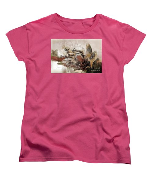 Women's T-Shirt (Standard Cut) featuring the mixed media Gerberie - 152s by Variance Collections
