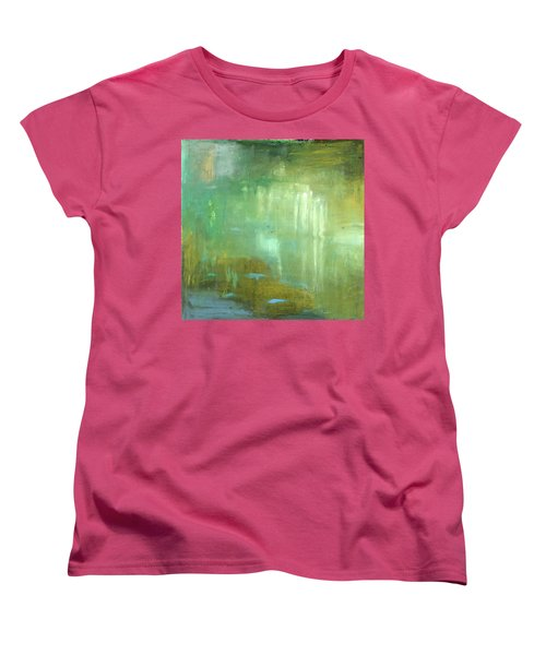 Women's T-Shirt (Standard Cut) featuring the painting Ghosts In The Water by Michal Mitak Mahgerefteh