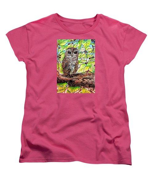 Give A Hoot Women's T-Shirt (Standard Cut) by Patricia L Davidson