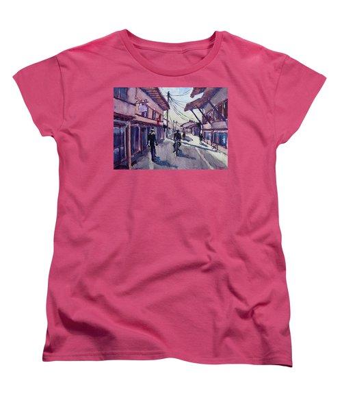 Women's T-Shirt (Standard Cut) featuring the painting Gjakova by Geni Gorani