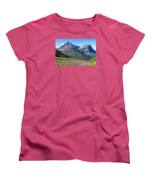 Women's T-Shirt (Standard Cut) featuring the photograph Glacier Park Bedazzeled by Susan Crossman Buscho