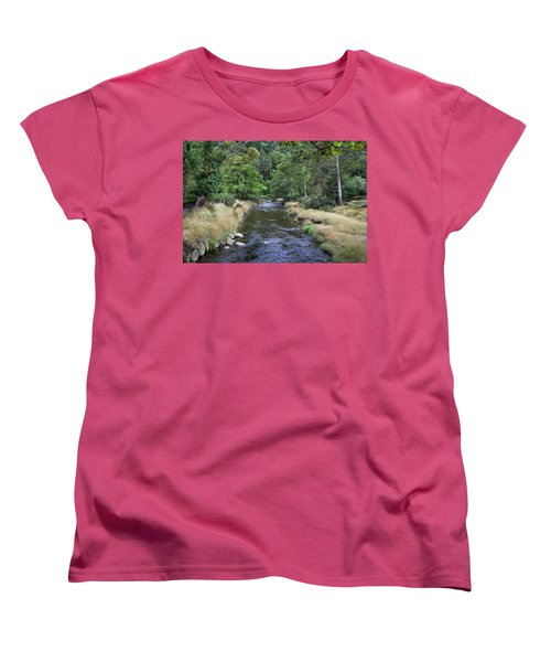 Women's T-Shirt (Standard Cut) featuring the photograph Glendasan River. by Terence Davis