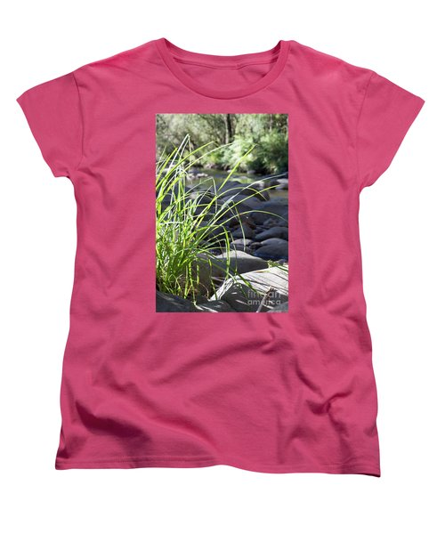 Women's T-Shirt (Standard Cut) featuring the photograph Glistening In The Sunlight by Linda Lees