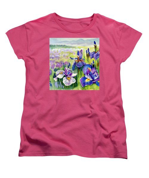 Women's T-Shirt (Standard Cut) featuring the painting Glorious Hand Of God by Karen Showell
