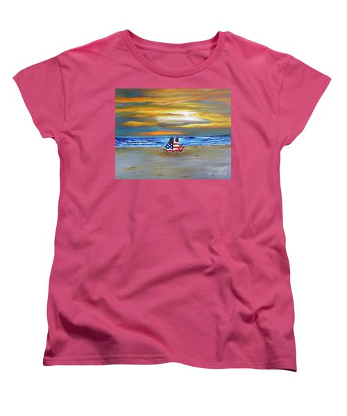 Women's T-Shirt (Standard Cut) featuring the painting Glory by Barbara Hayes
