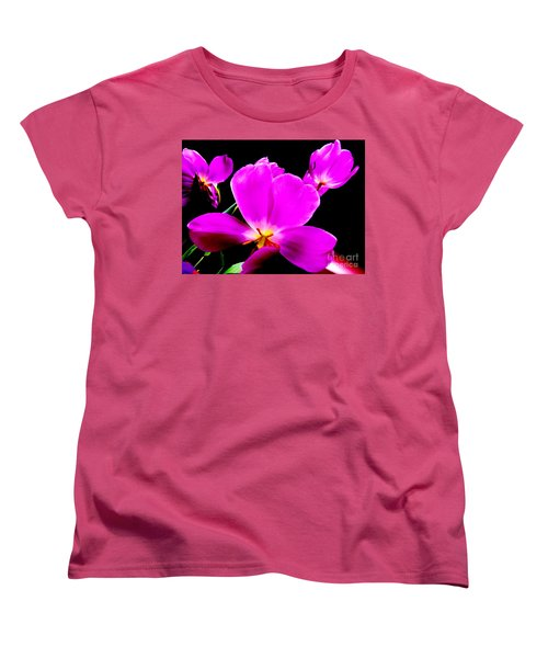Glowing Tulips Women's T-Shirt (Standard Cut) by Tim Townsend