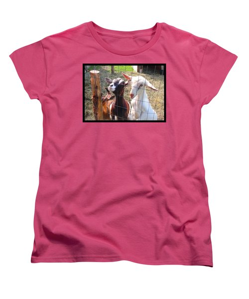 Goats Women's T-Shirt (Standard Cut) by Felipe Adan Lerma