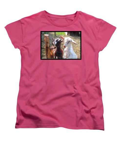 Women's T-Shirt (Standard Cut) featuring the photograph Goats by Felipe Adan Lerma