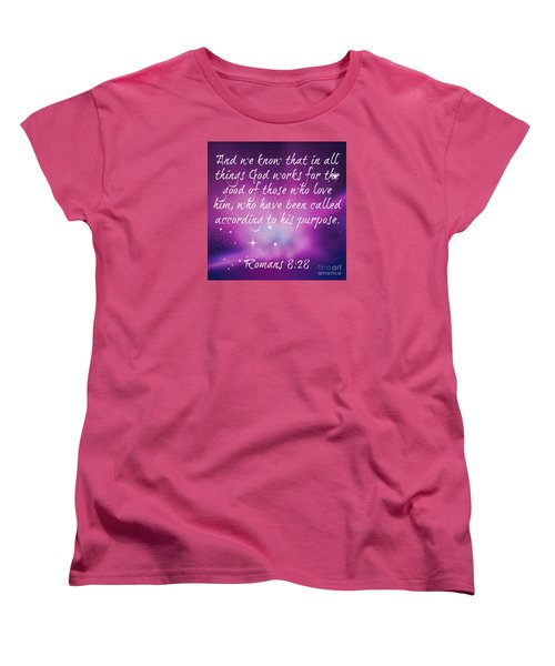 Women's T-Shirt (Standard Cut) featuring the digital art God Works by Leanne Seymour