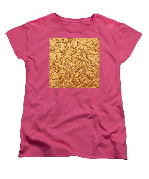 Gold Waves Women's T-Shirt (Standard Cut) by Alan Casadei