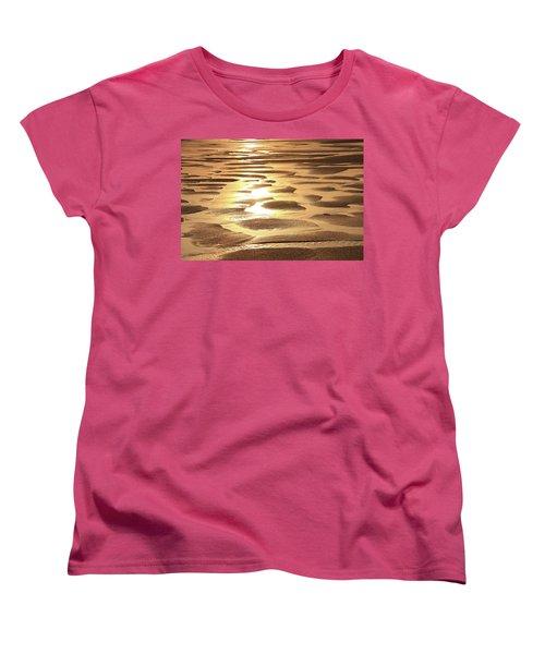 Golden Sands Women's T-Shirt (Standard Cut) by Roupen  Baker