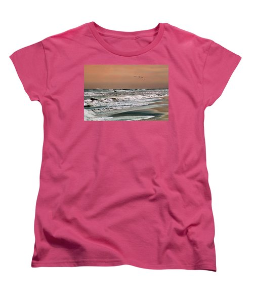Women's T-Shirt (Standard Cut) featuring the photograph Golden Shore by Steve Karol