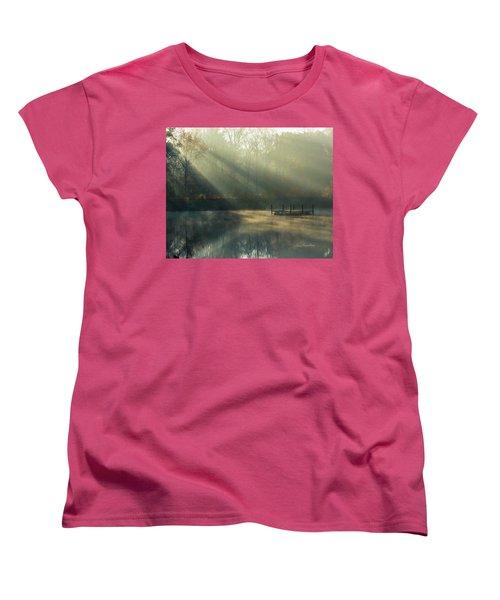 Women's T-Shirt (Standard Cut) featuring the photograph Golden Sun Rays by George Randy Bass