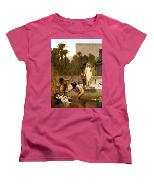 Goodall Frederik The Finding Of Moses Women's T-Shirt (Standard Cut) by Frederick Goodall