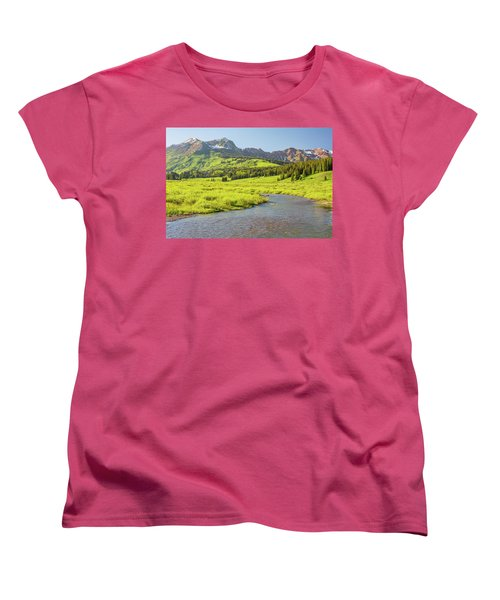Gothic Valley - Early Evening Women's T-Shirt (Standard Cut) by Eric Glaser