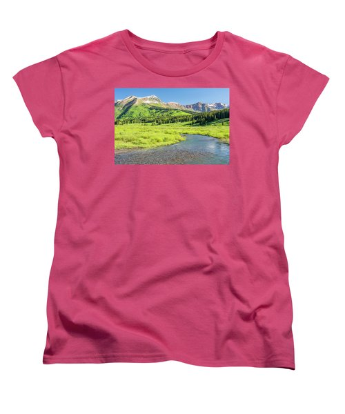 Women's T-Shirt (Standard Cut) featuring the photograph Gothic Valley - Morning by Eric Glaser