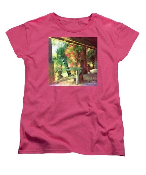Gramma's Front Porch Women's T-Shirt (Standard Cut) by Lois Bryan
