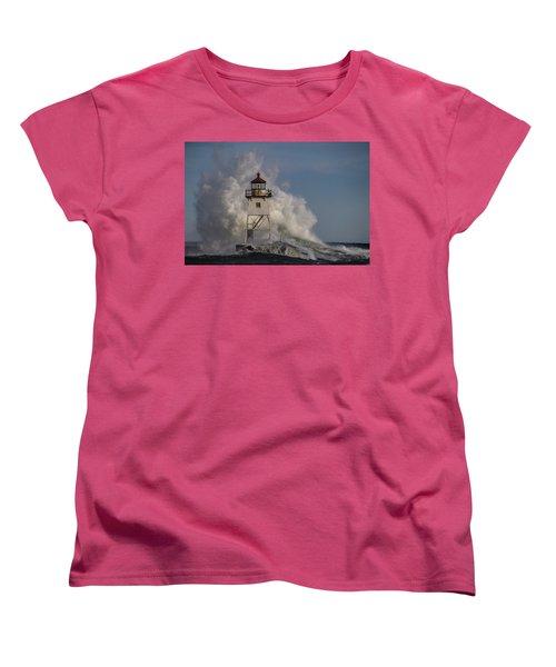 Women's T-Shirt (Standard Cut) featuring the photograph Grand Marais Light House by Paul Freidlund