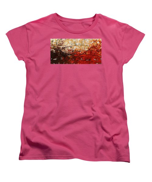 Women's T-Shirt (Standard Cut) featuring the painting Grand Vision by Carmen Guedez