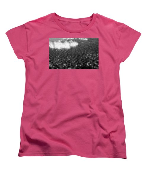 Grass And Water And Lilly Pads Bw2  Women's T-Shirt (Standard Cut) by Lyle Crump