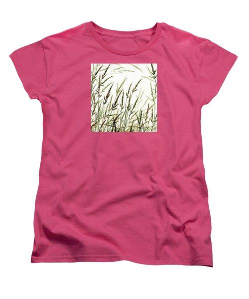 Women's T-Shirt (Standard Cut) featuring the painting Grass Design by James Williamson