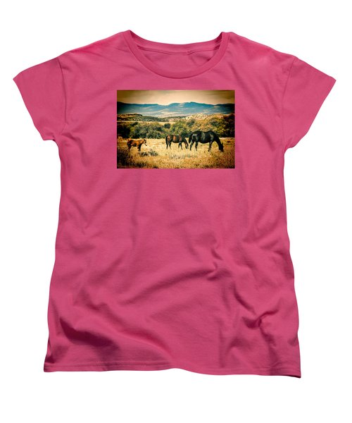 Grazing Women's T-Shirt (Standard Cut) by Fred Larson