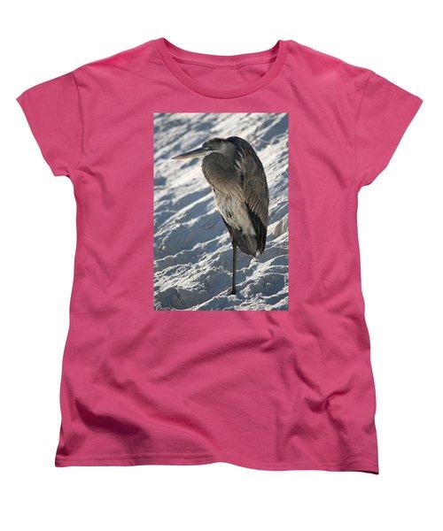 Great Blue Heron Women's T-Shirt (Standard Cut) by Kathleen Scanlan