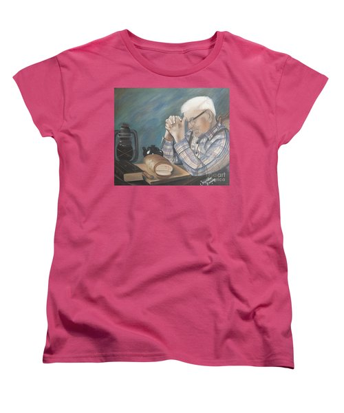 Women's T-Shirt (Standard Cut) featuring the painting Great Grandpa by Jacqueline Athmann