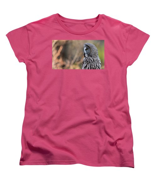 Great Grey's Profile Women's T-Shirt (Standard Cut) by Torbjorn Swenelius