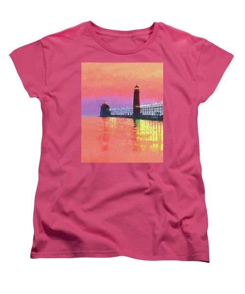 Great Lakes Light Women's T-Shirt (Standard Cut) by Dennis Cox WorldViews