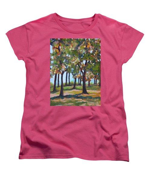 Great Outdoors Women's T-Shirt (Standard Cut) by Jan Bennicoff