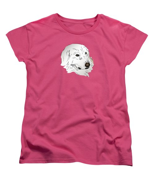 Women's T-Shirt (Standard Cut) featuring the digital art Great Pyrenees Dog by MM Anderson