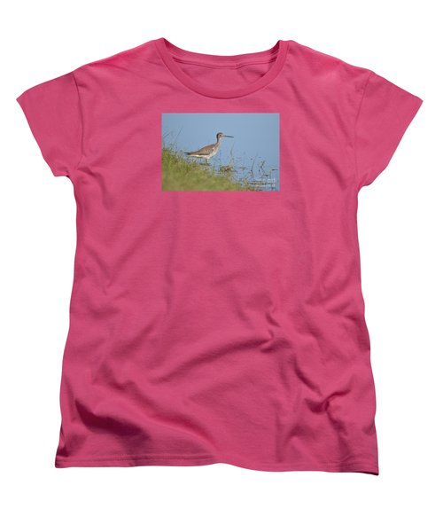 Greater Yellowlegs Women's T-Shirt (Standard Cut) by Kathy Gibbons