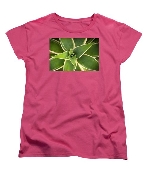 Green Agave Women's T-Shirt (Standard Cut) by Catherine Lau