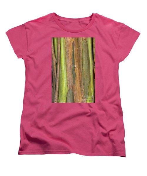 Women's T-Shirt (Standard Cut) featuring the photograph Green Bark 3 by Werner Padarin