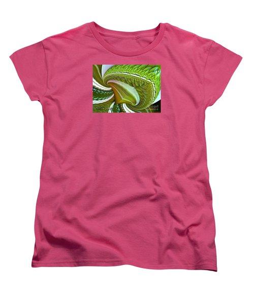 Women's T-Shirt (Standard Cut) featuring the digital art Green Diamonds by Melissa Messick