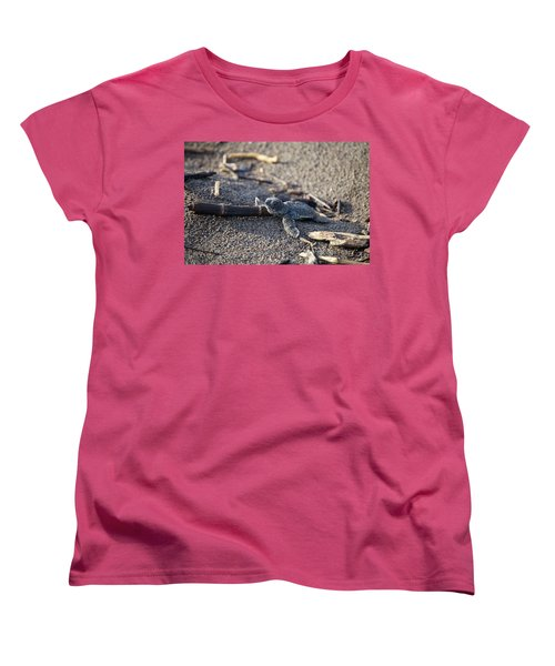 Women's T-Shirt (Standard Cut) featuring the photograph Green Sea Turtle Hatchling by Breck Bartholomew